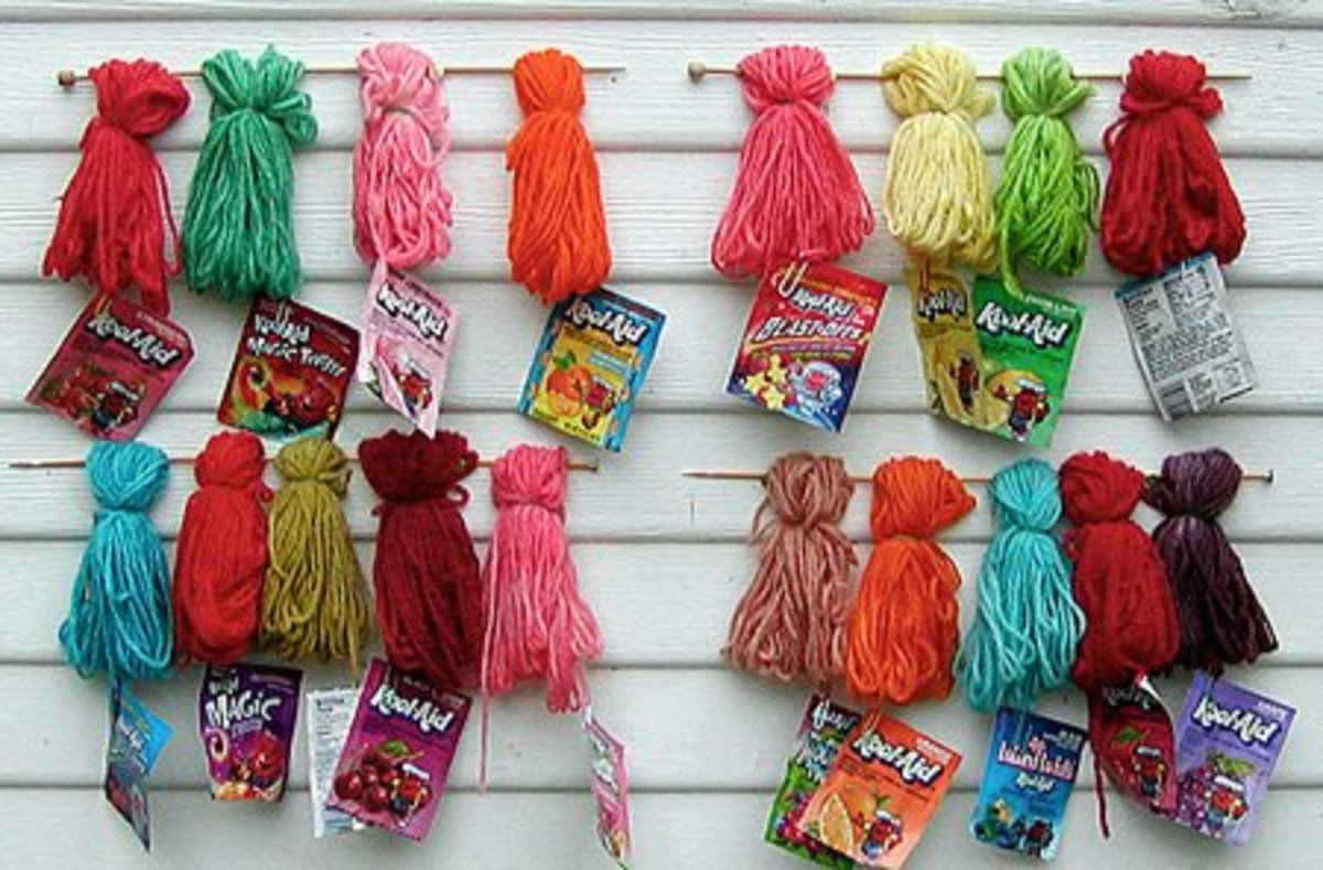 Yarn that has been dyed with kool-aid! photo from www. knitty.com
