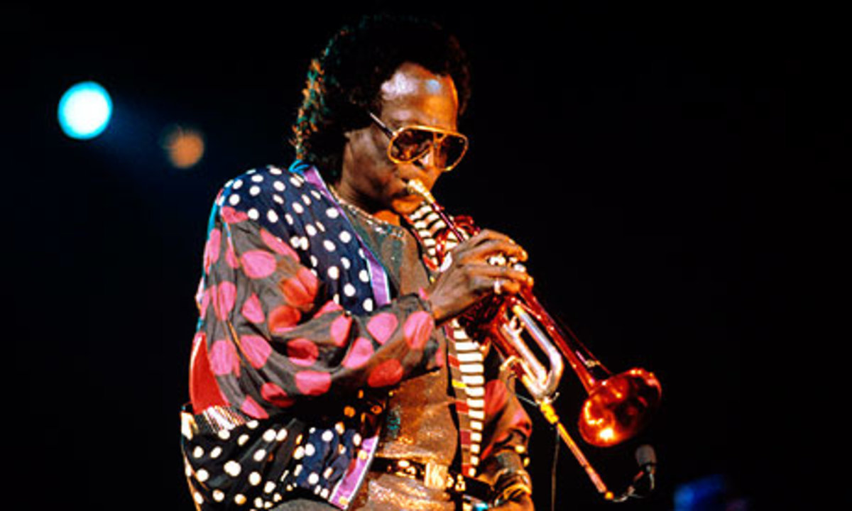 "Miles Davis: ""When I hear myself back,"" he says, ""things seem to be shorter than what you think they are. I keep playing and editing and playing and editing myself out … and I try and stop on a high point to leave someone else something to do. But wh"