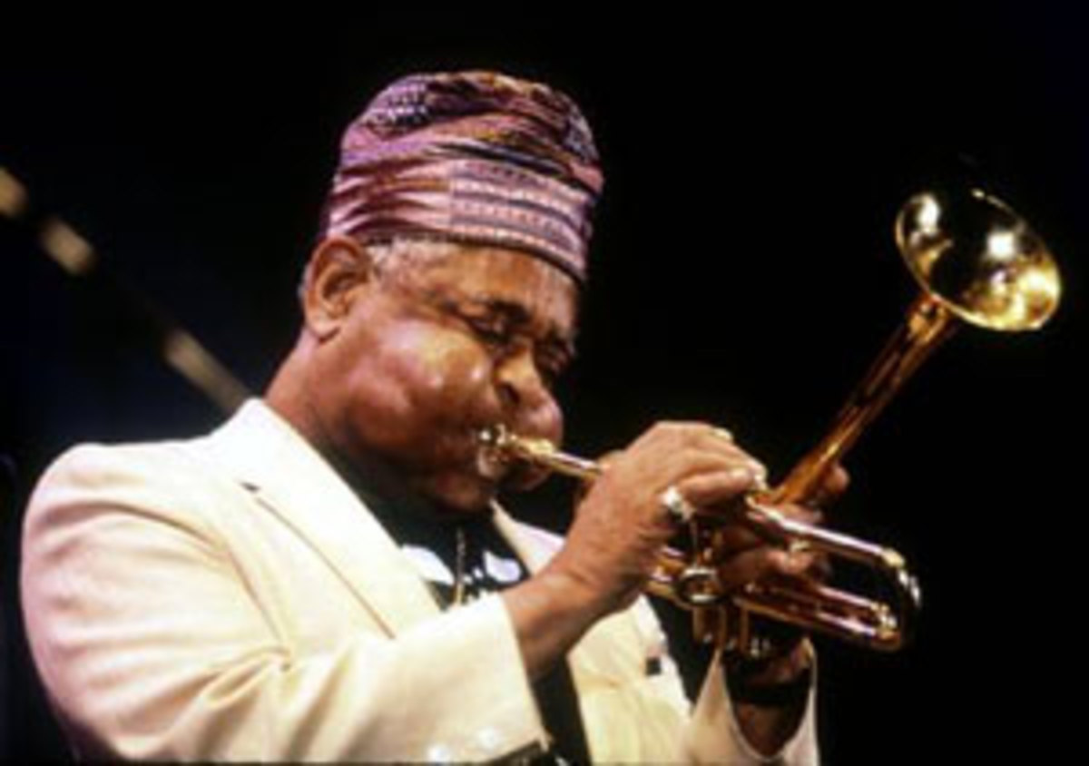 Dizy Gillespie was talented trumpet player popular for his bebop style of paying. He played in the stratosphere, high notes many trumpet players today don't even dream of playing. He began his jazz career playing in swing bands and was one of the pio