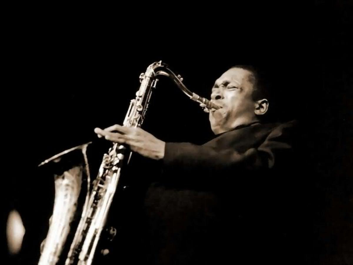 """John Coltrane's anguished tone and multi-noted, rhythmically complex solos quickly elevated him to the front ranks of jazz. The incredible technical and harmonic content of his playing at that time led to a style described as """"sheets of sound,"""" that,"""