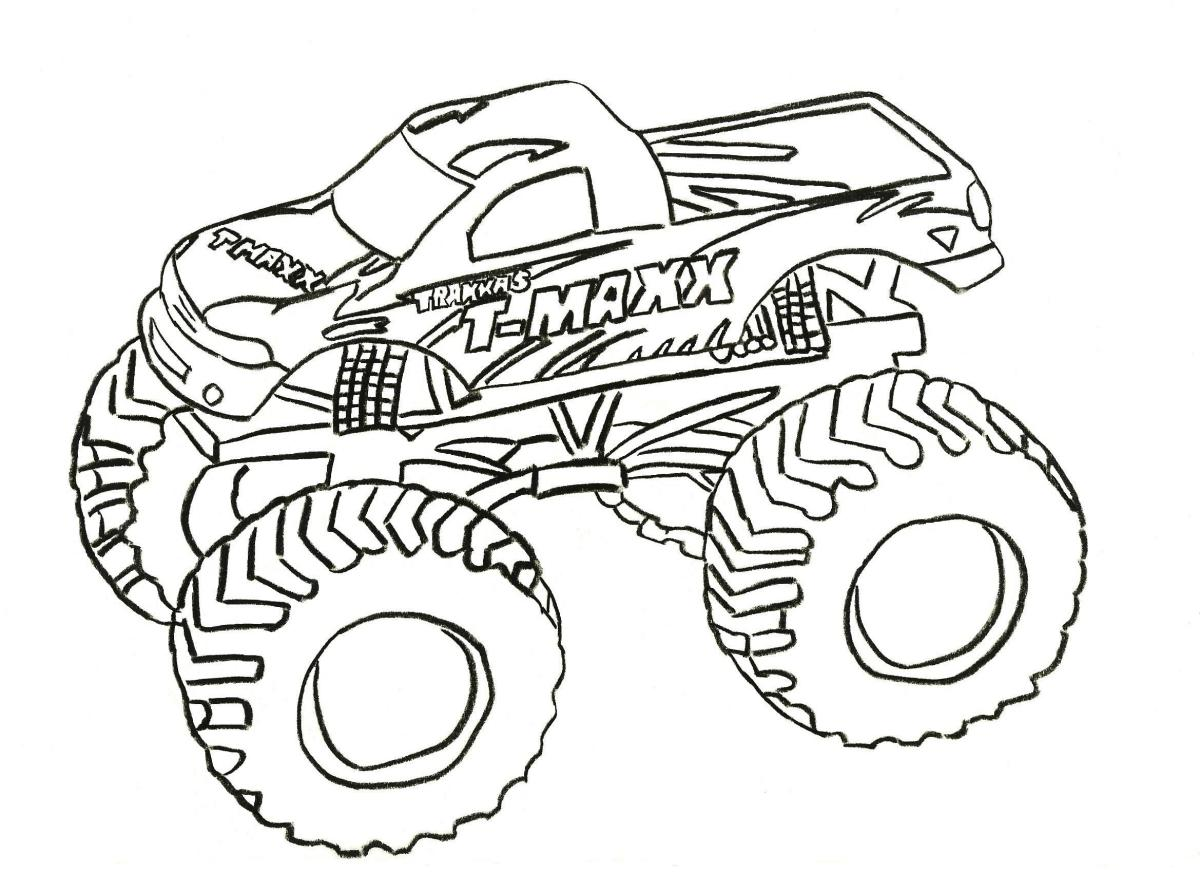 Free Down loads - Free Monster Trucks Coloring Pictures and Boys Truck Coloring Pages