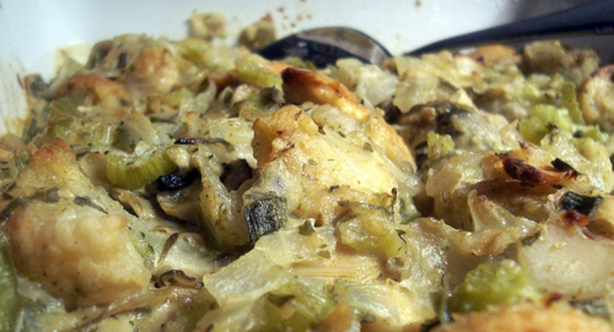 Learn to make this oyster dressing in my online cooking school!