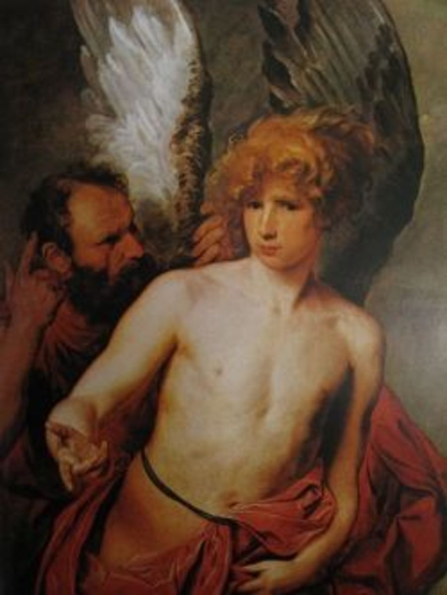 Daedalus and Icarus by Van Dyck