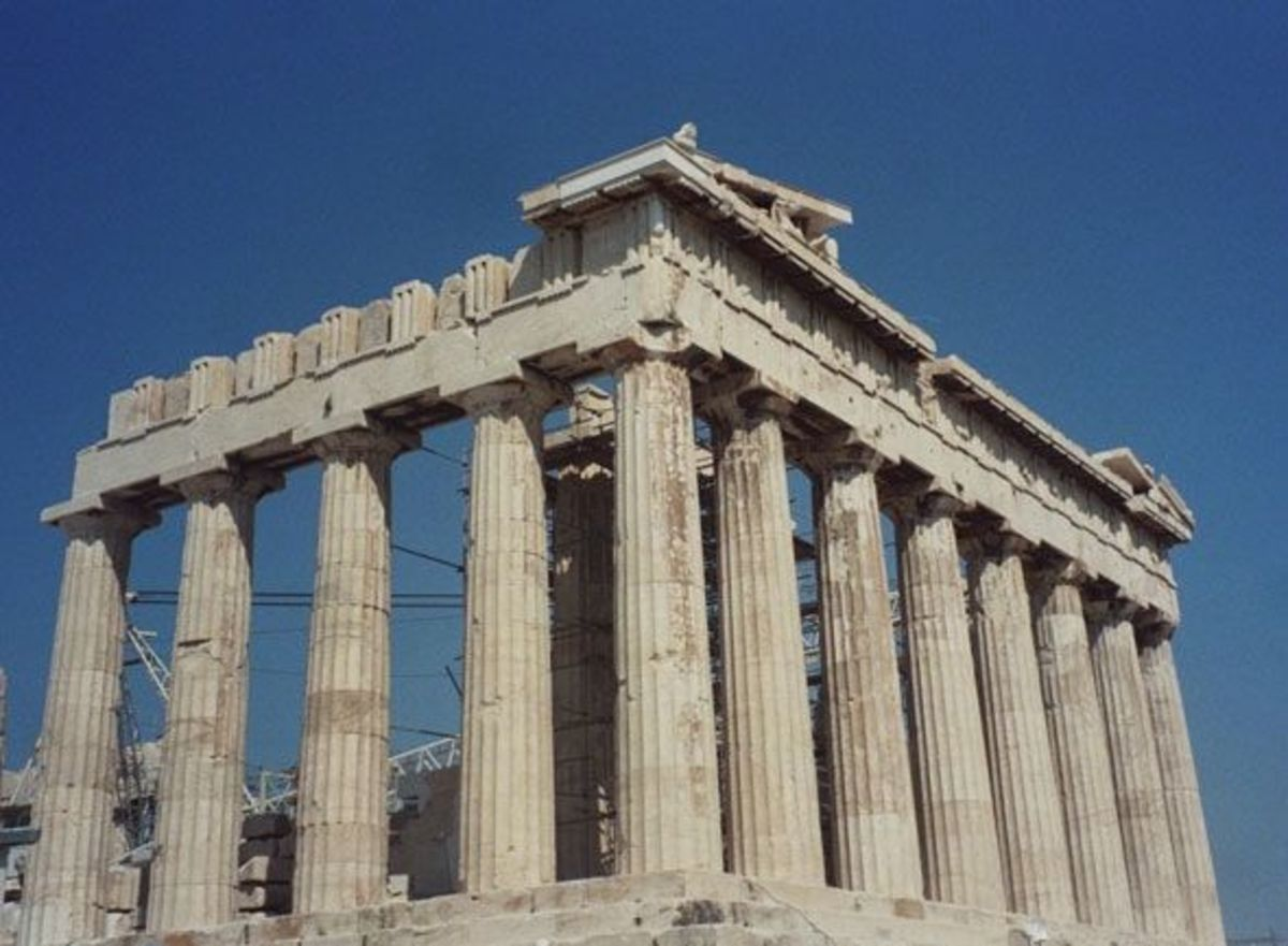 The Parthenon, Temple of Athena in Athens