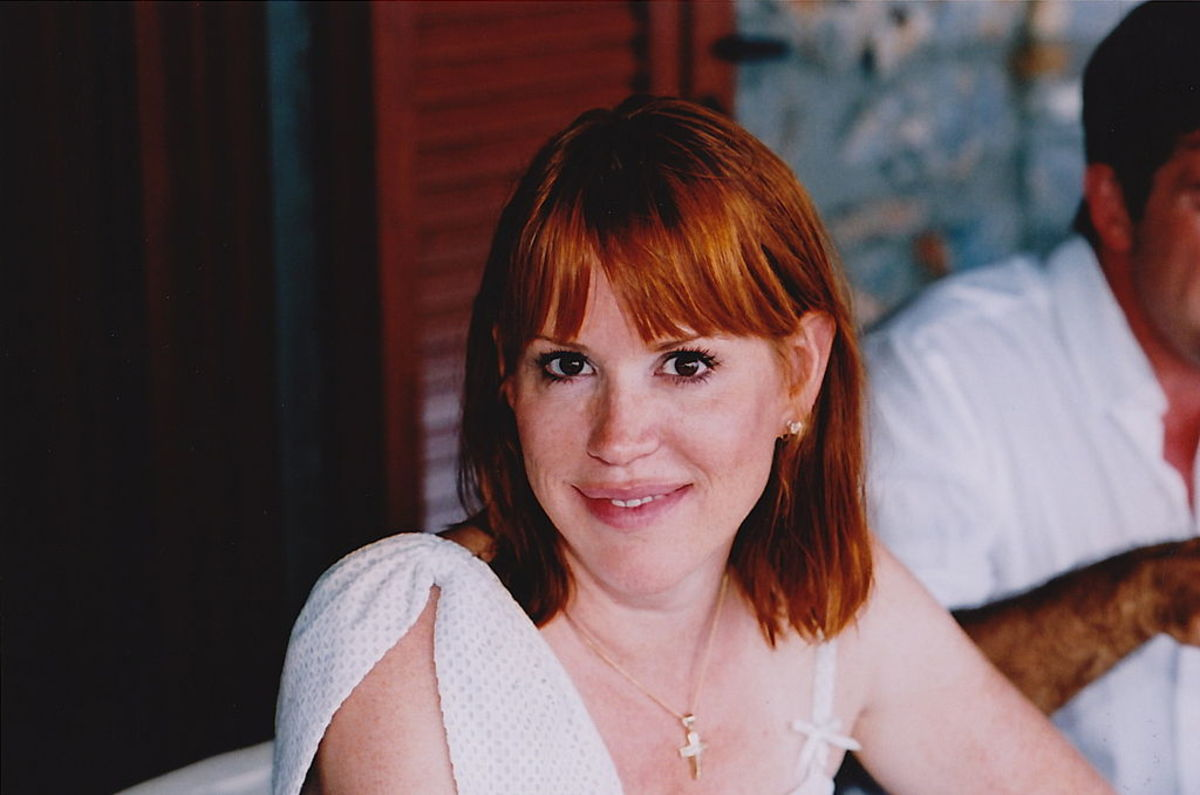 Molly Ringwald in Greece, August 2010.