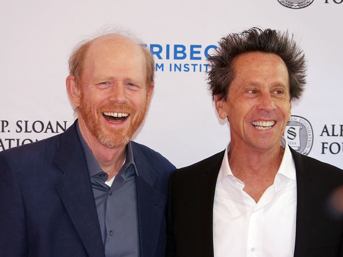 Ron Howard and Brian Grazer at Tribeca Talks After the Movie: A Beautiful Mind, Presented by Tribeca Film Institute and the Alfred P. Sloan Foundation. April, 2011.