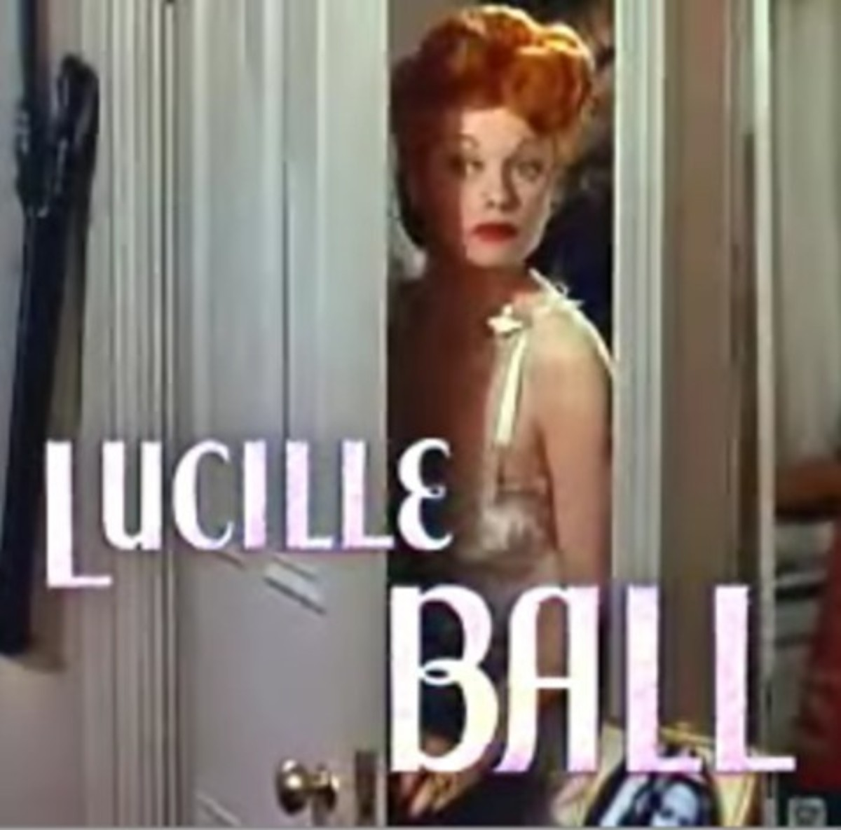Screen shot of Lucille Ball from the Best Foot Forward movie trailer.