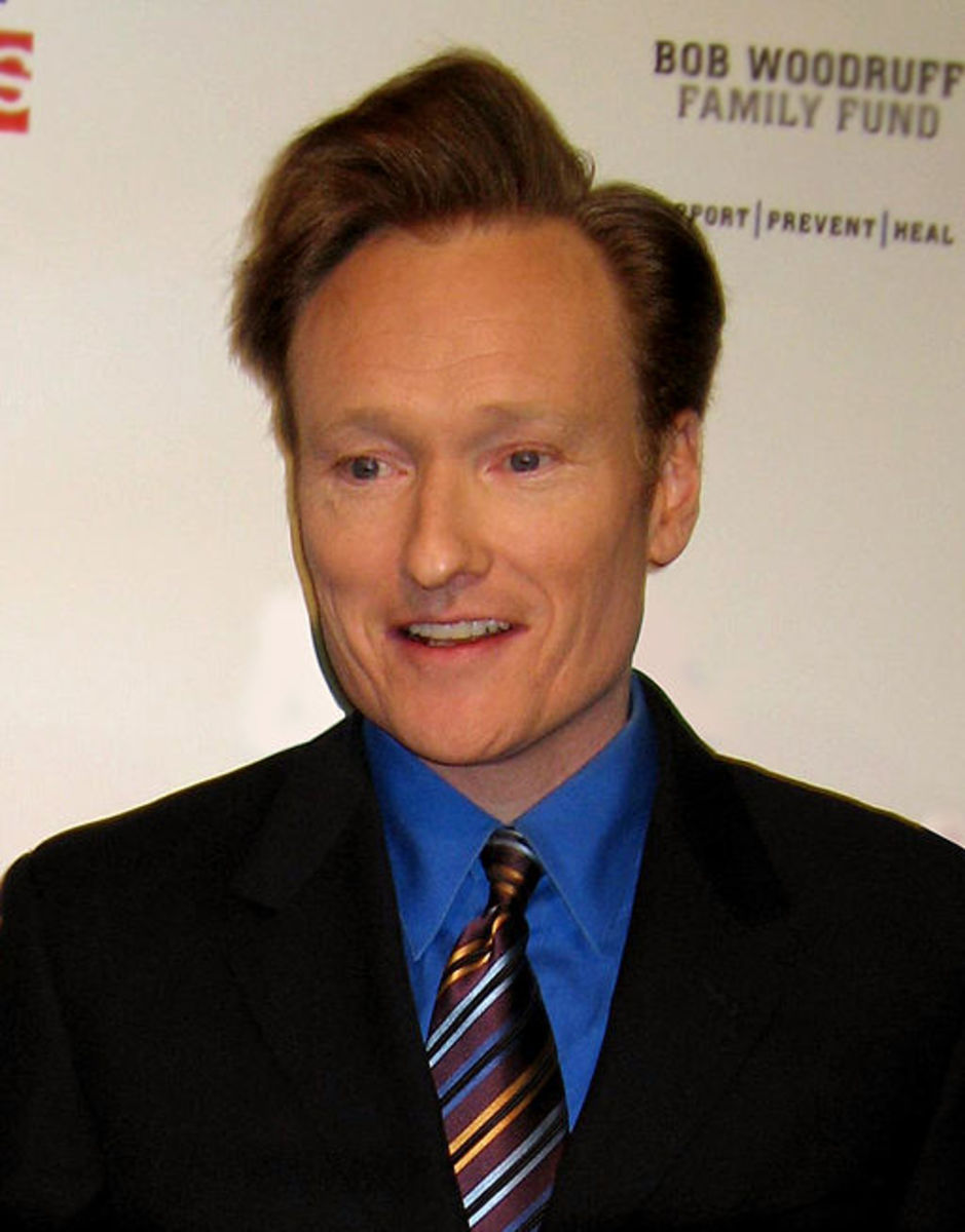 "American comedian Conan O'Brien at ""Stand Up for Heroes,"" a comedy and music benefit organized by the Bob Woodruff Family Fund to raise money for injured U.S. servicemen. 2007."