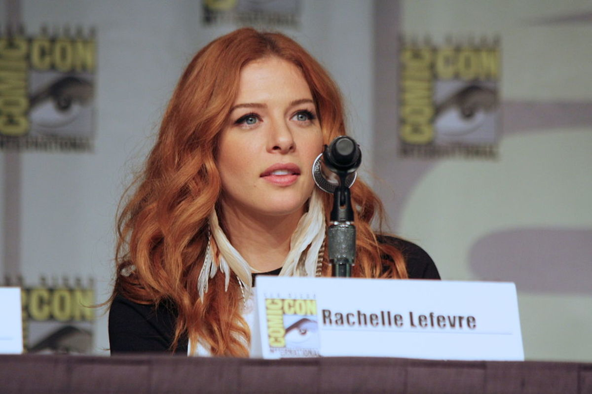 Rachelle Lefevre at a 2013 Comic-Con panel for the TV show Under the Dome.