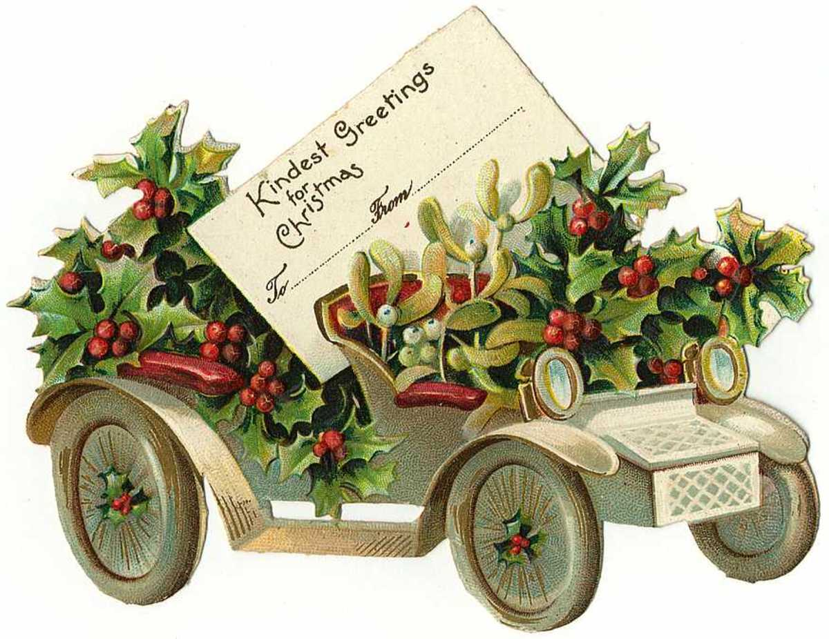 """Click the """"Free Vintage Christmas Gift Tags"""" link on the left to download this and many other free vintage Christmas gift tags"""
