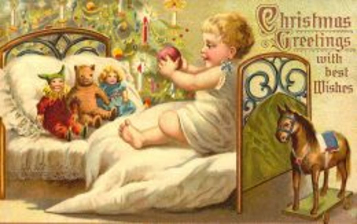 """Click the """"Free Antique Toys Christmas Cards"""" link to the left to access this and many other free vintage Christmas card images"""
