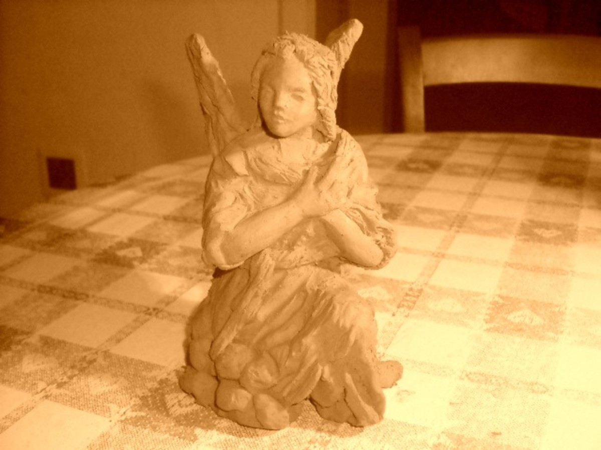 The Angel, who though coming from Heaven kneels before the Virgin Mary.