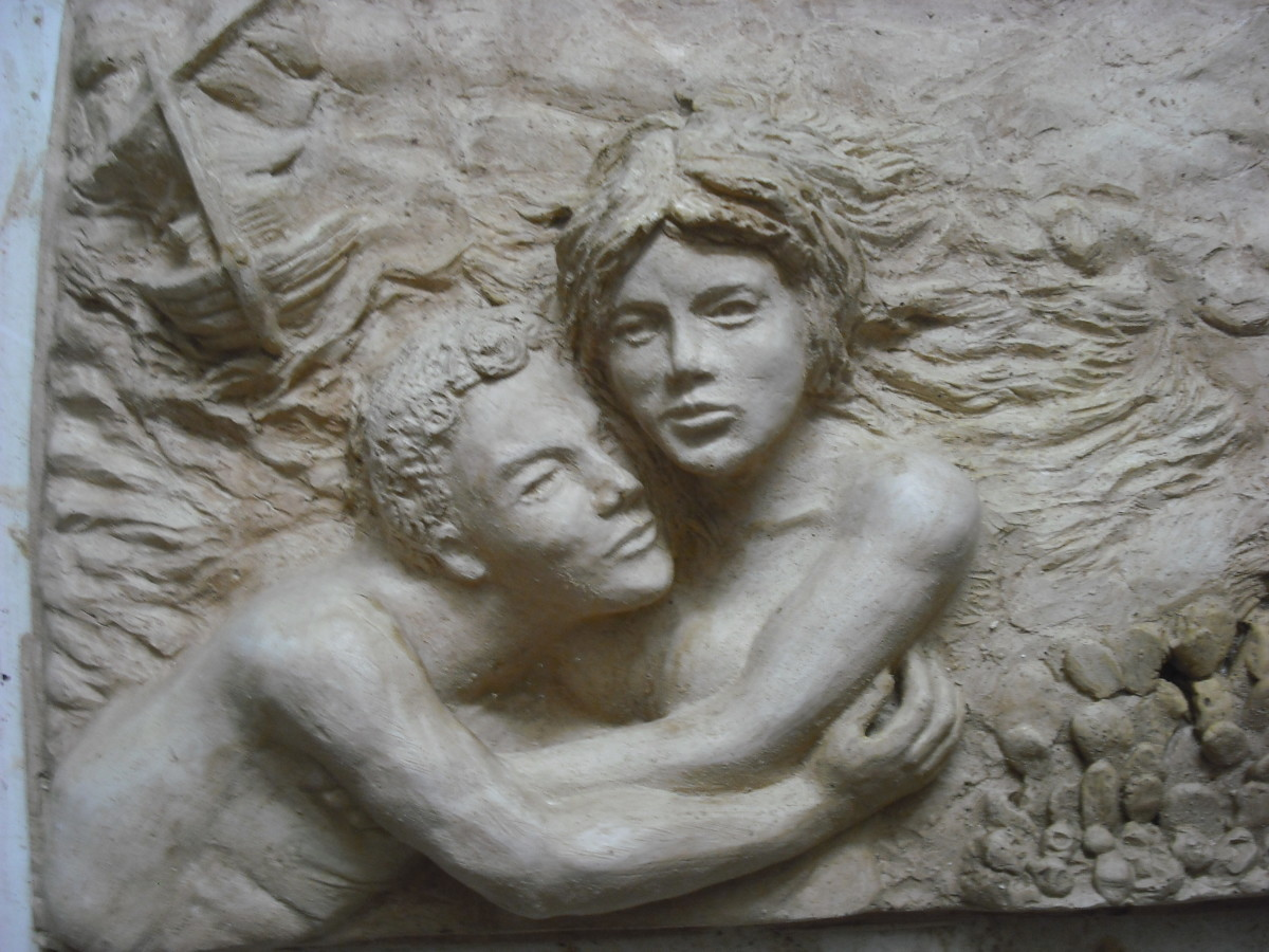 Nudes and Bas Relief Clay Sculptures