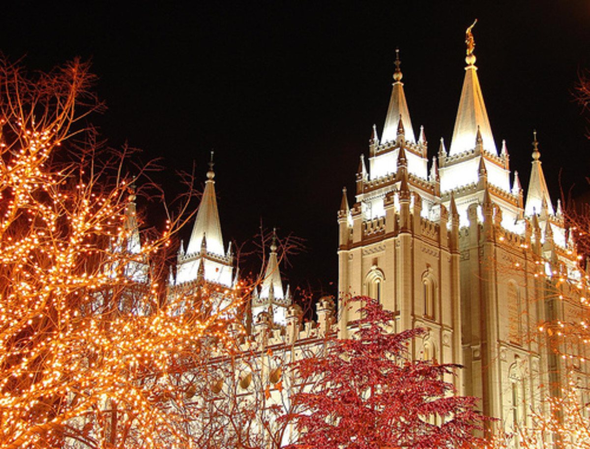 The Mormon Temple in Salt Lake City Utah is a wonderful place to visit at Christmas time.  The lights are truly spectacular.
