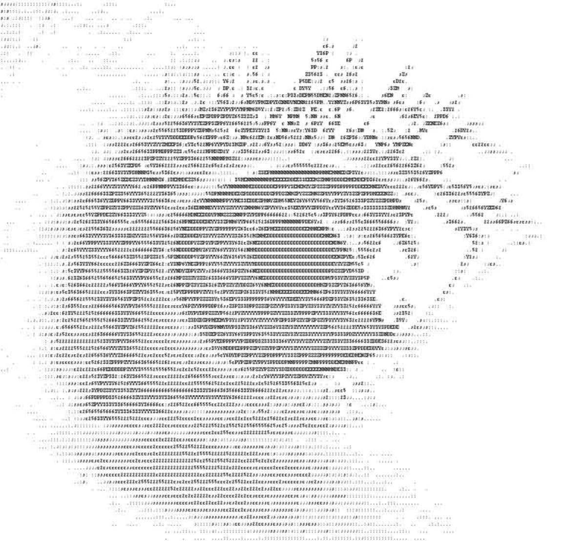 Single Line Ascii Art : Ascii art by glen