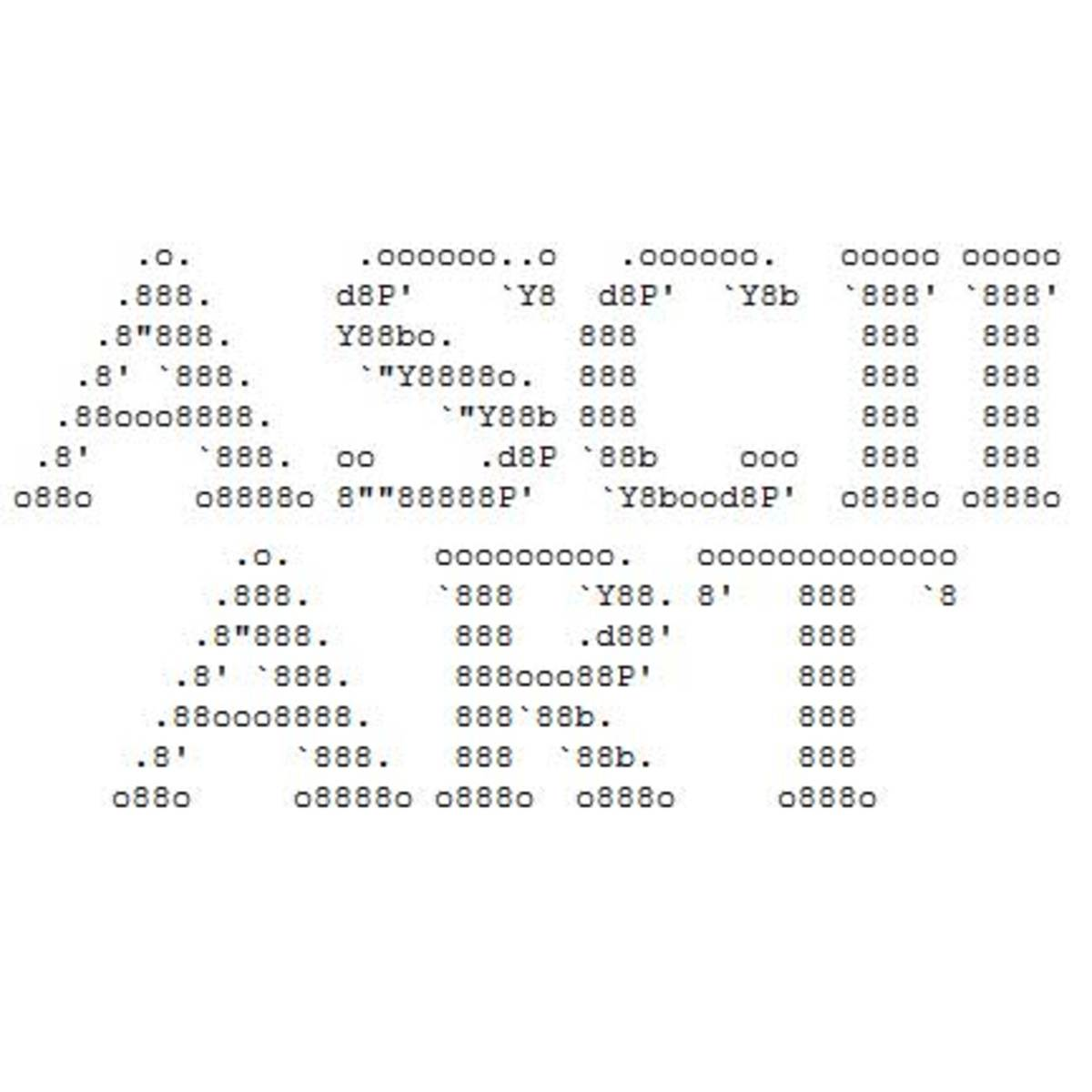 One Line Ascii Art Letters : Ascii art by glen hubpages