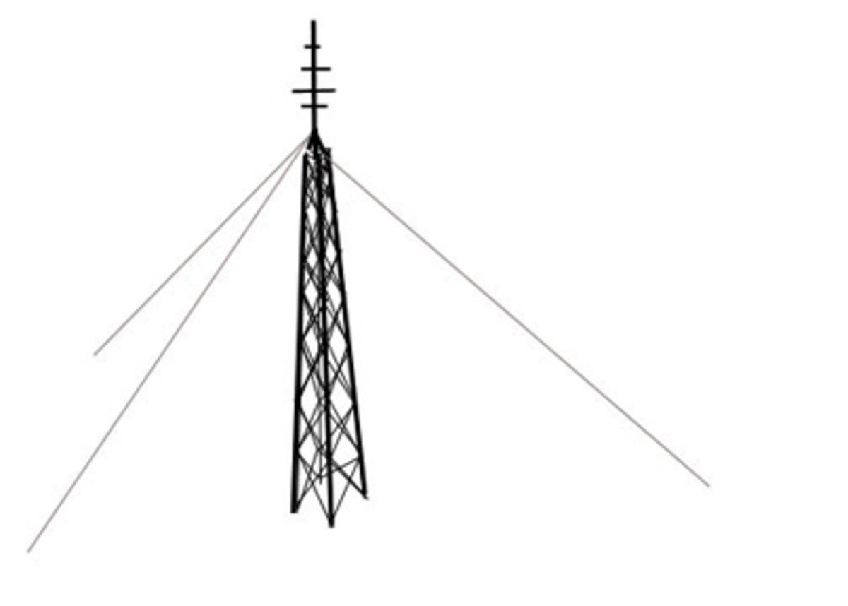 Dropping an antenna tower can be a risky process.