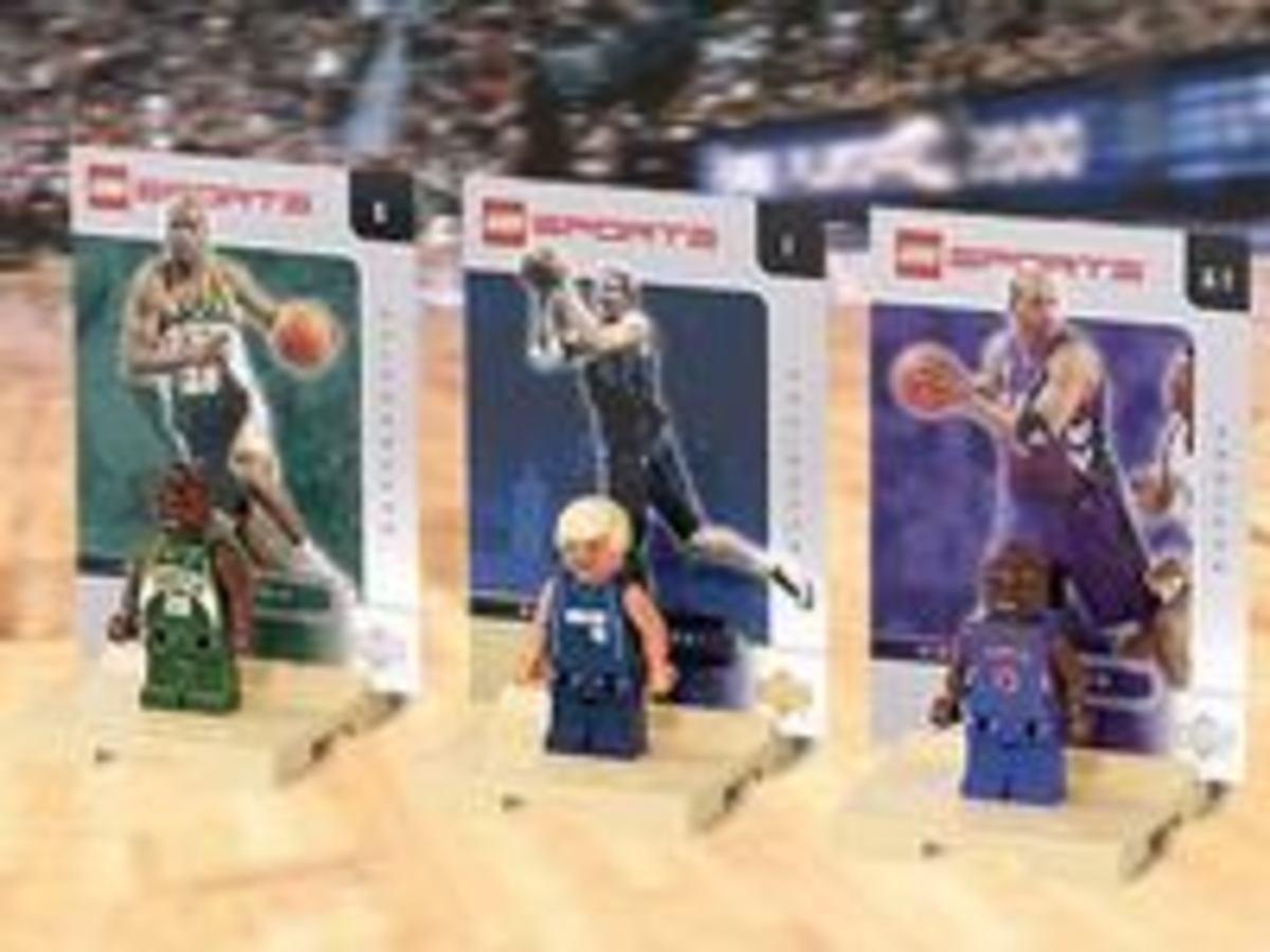 Vince Carter, Gary Payton and Dirk Nowitzki Lego Minifigures