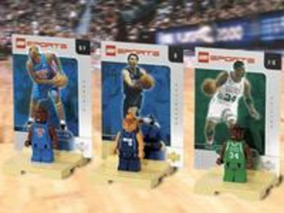 Paul Pierce, Steve Nash and Jerry Stackhouse lego minifigures