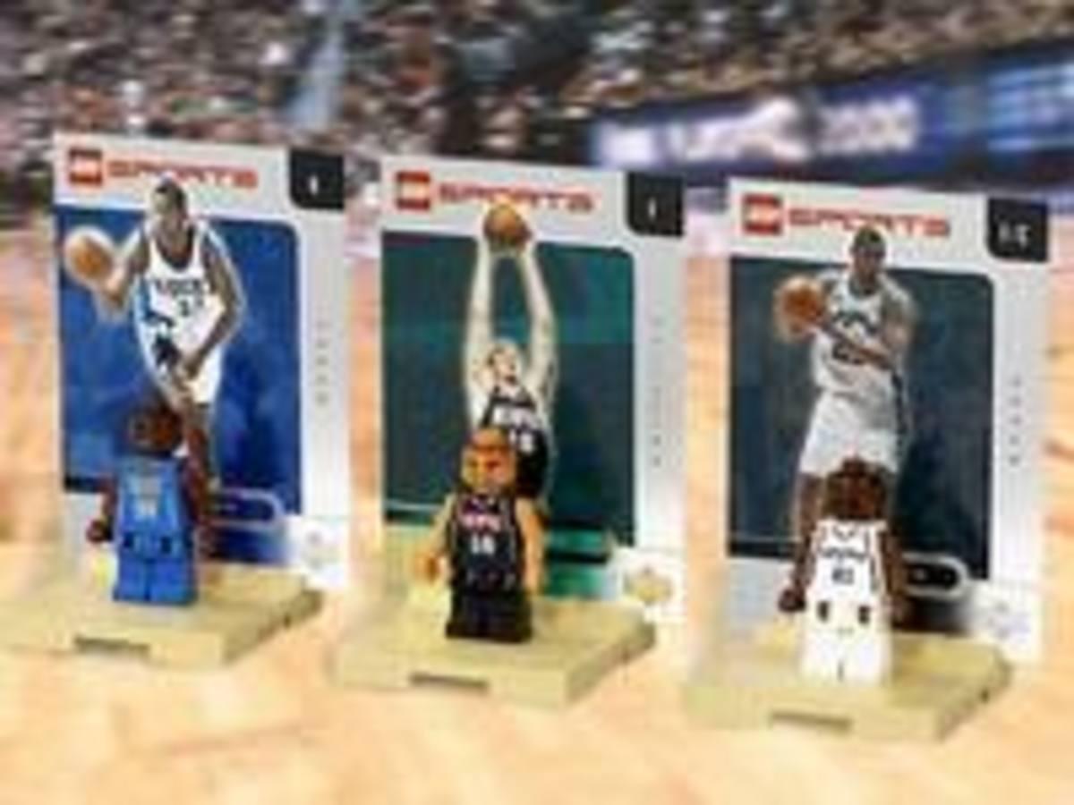 Tim Duncan, Ray Allen and Pau Gasol Lego figures
