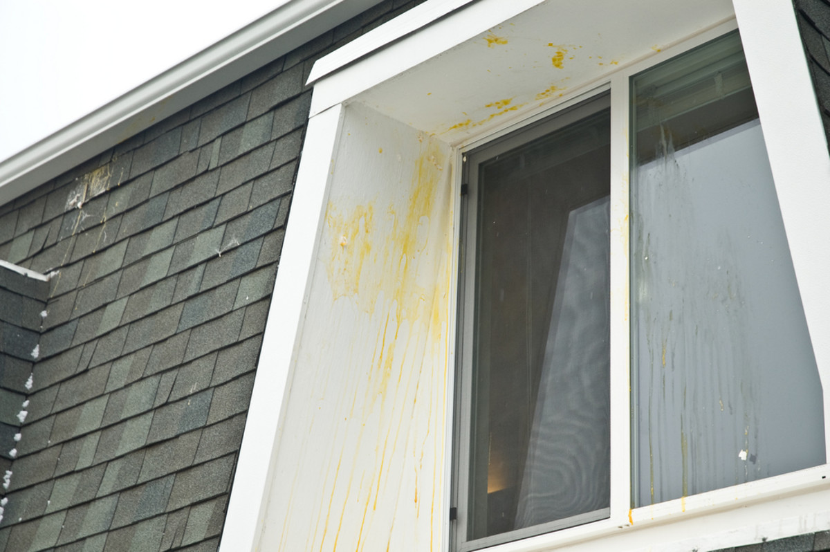 Some naughty miscreants hit this house with eggs