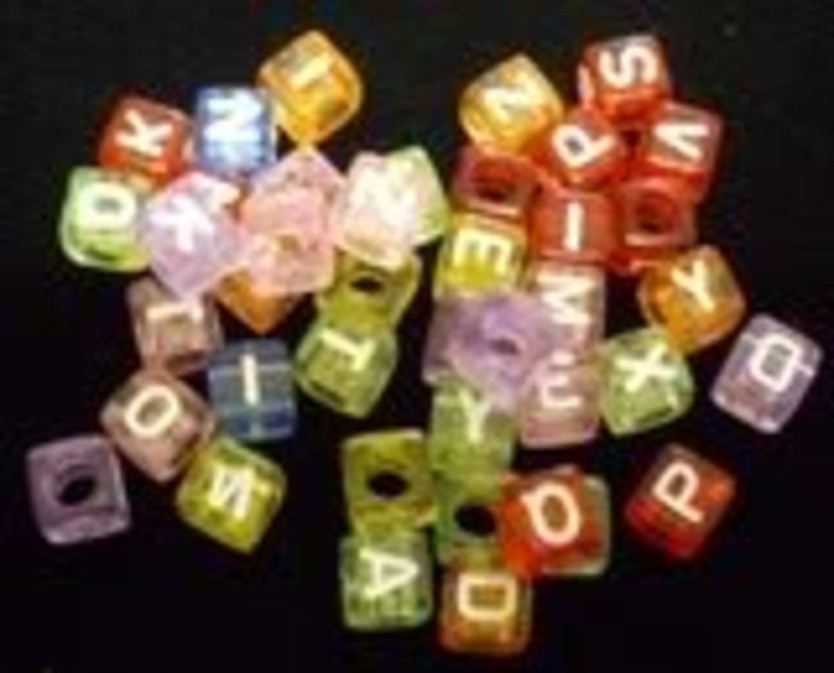 Rainbow Alphabet Beads