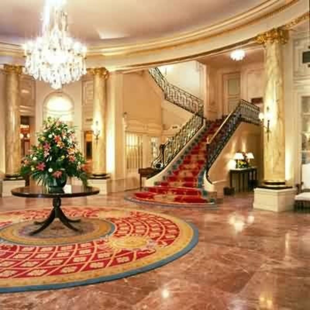 Main lobby at the Ritz.  Credit: www.whatahotel.com