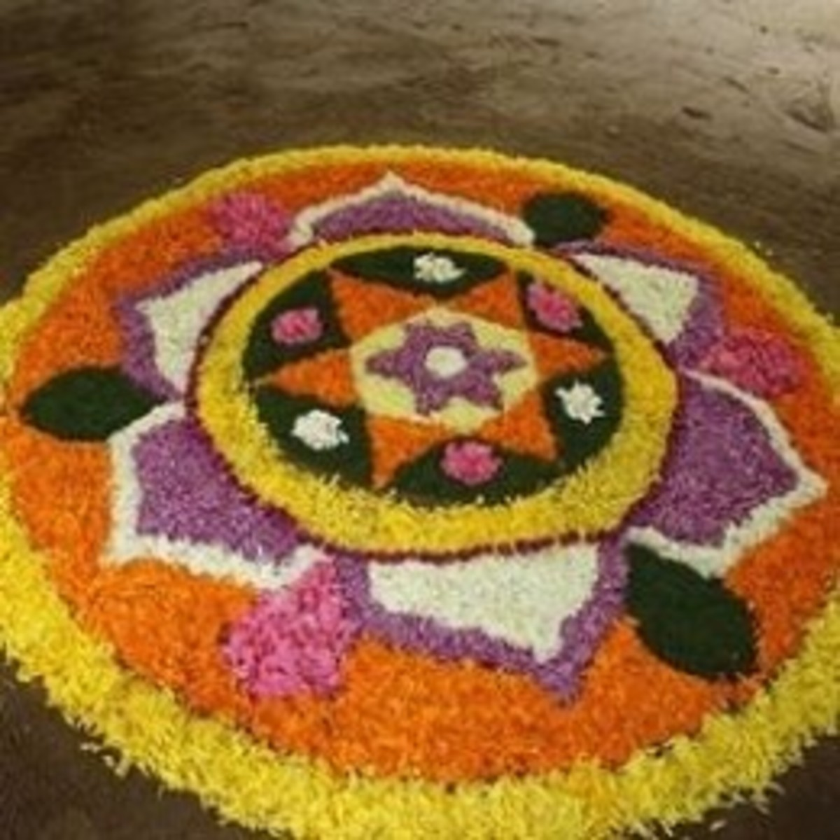 Pookalam - Indian Floral Design