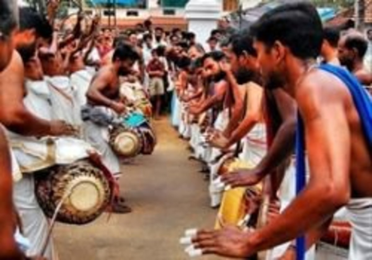 Panchavadyam at Temple