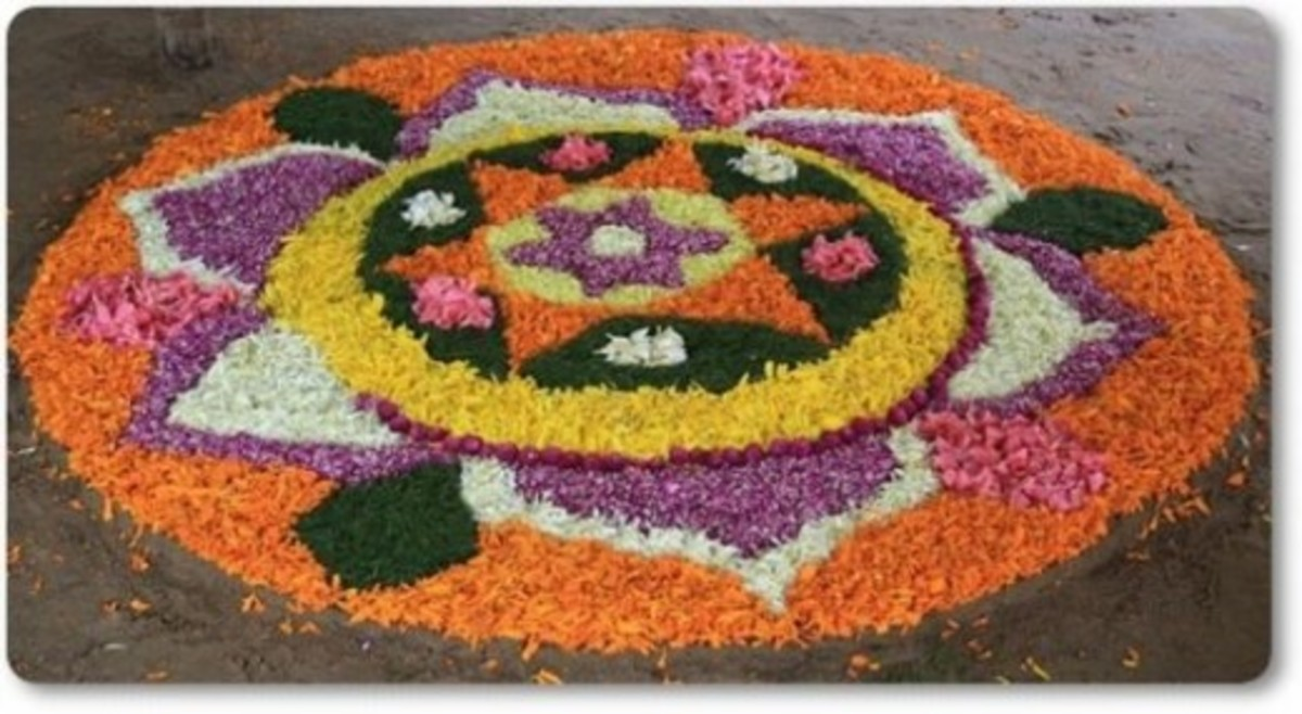 Onam Celebrations-Pookalam