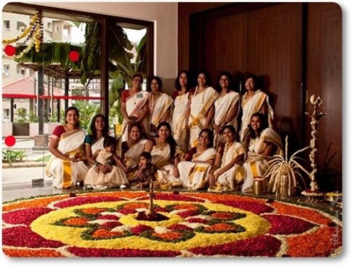 Pookalam Floral Design