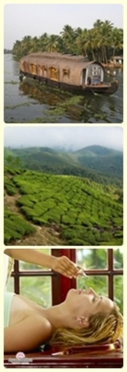 Kerala-backwaters, greenery, ayurveda
