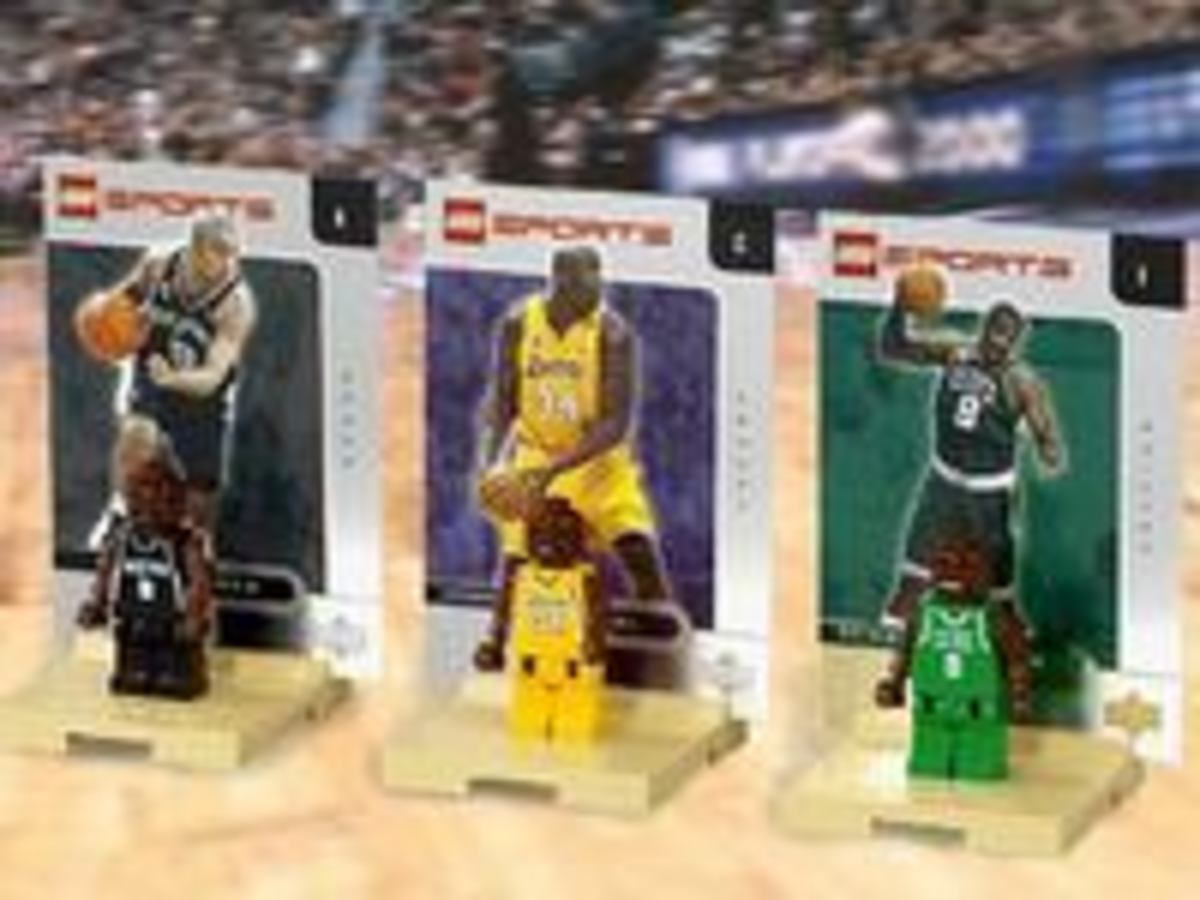 Lego Minifigures of Shaquille O'Neal, Tony Parker and Antoine Walker