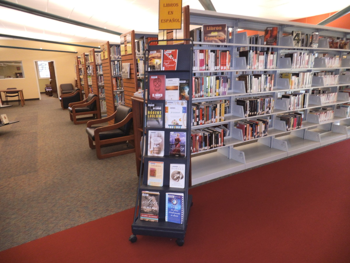 When the display gets depleted, it's easy to change the sign and put fresh books on the rack.