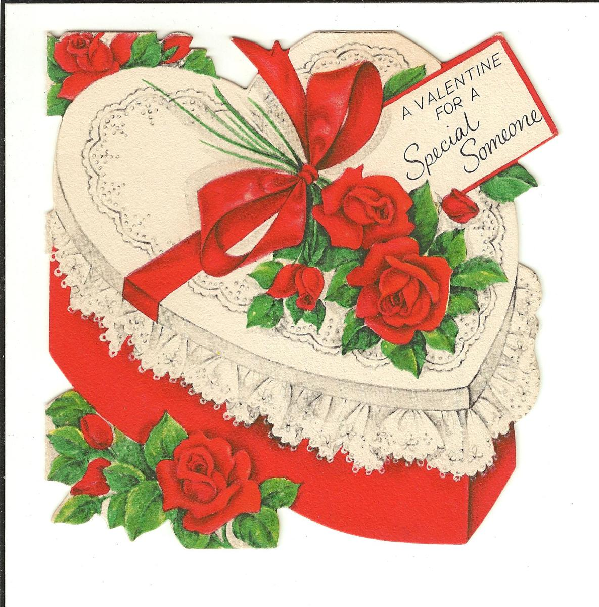 This vintage Valentine from my collection could be enlarged and words added next to it for your February display of books for Valentine's Day.