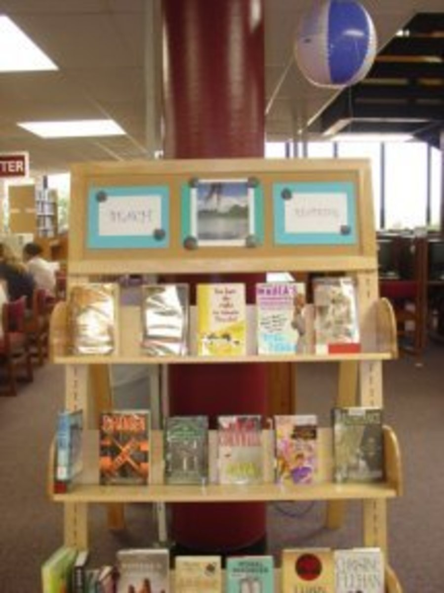 Daily or multiple times a day if you are in a busy library, check the display to make sure it looks fresh and inviting.  Remove any books that don't fit the display as people sometimes use them as a drop off spot when they decide they don't want one.