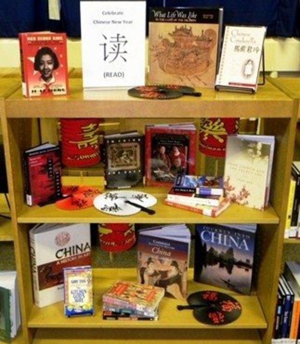 Chinese New Year book display (shared by Sharon Moore)