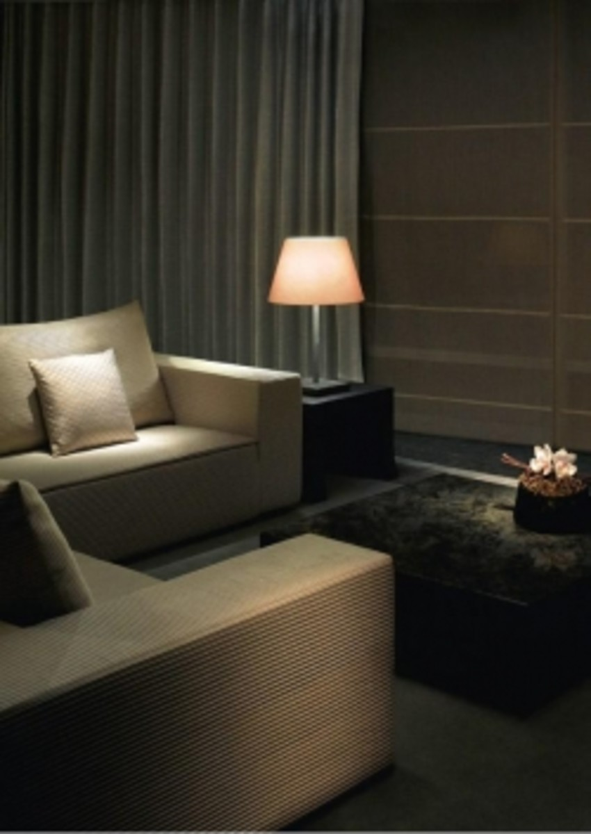Armani Hotel Living Room Interior Photo in Dubai at Burj Khalifa