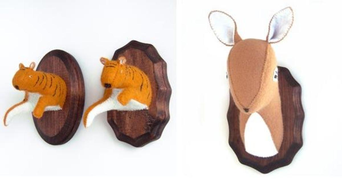 Faux taxidermy made from felt is an excellent example of a unique, niche product.