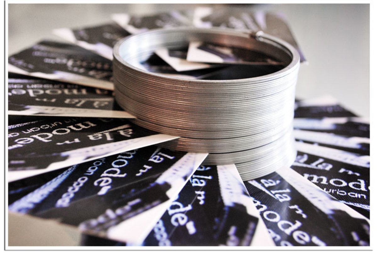 What a clever idea for displaying business cards!