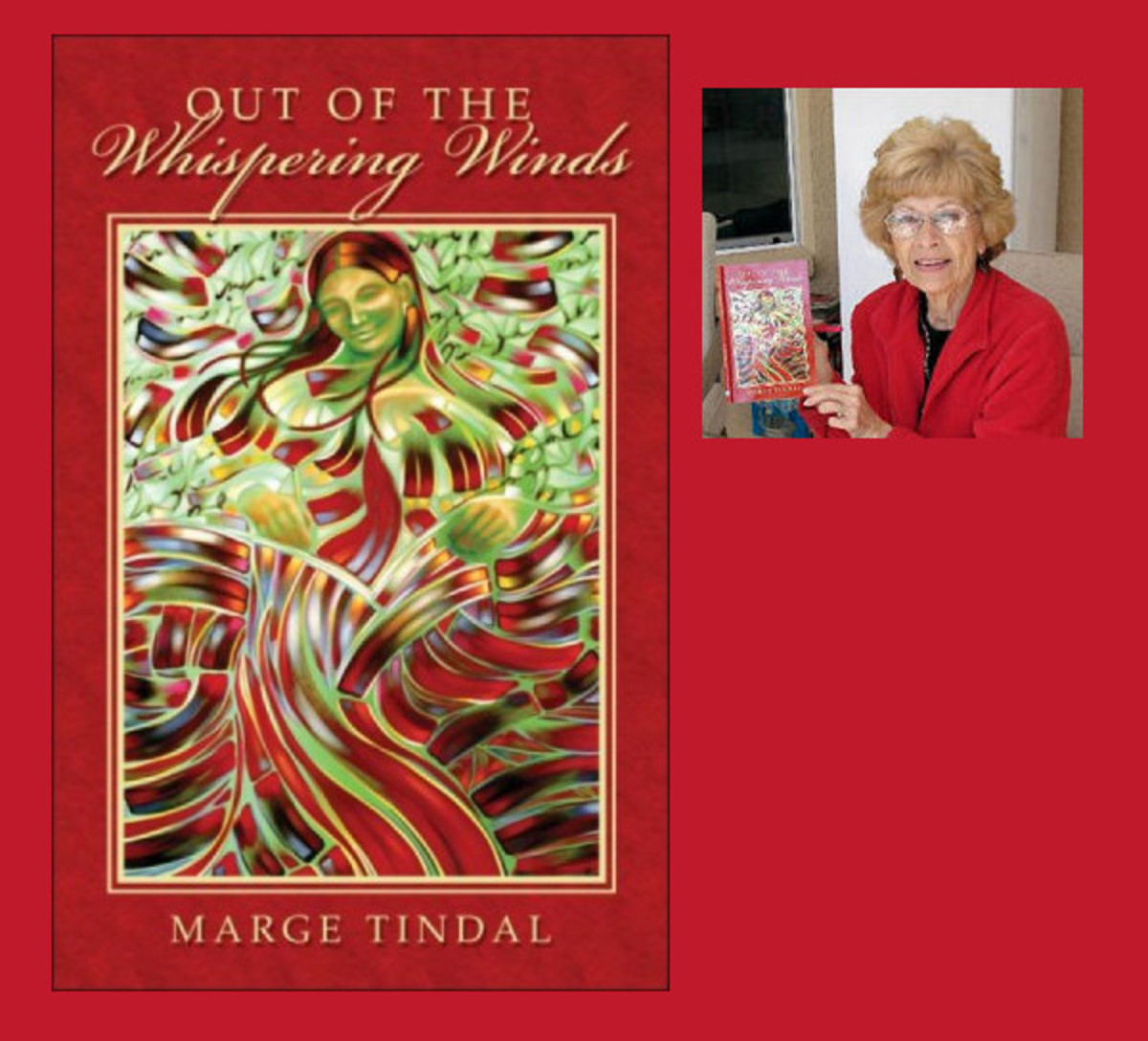 Marge Tindall at a book signing session.