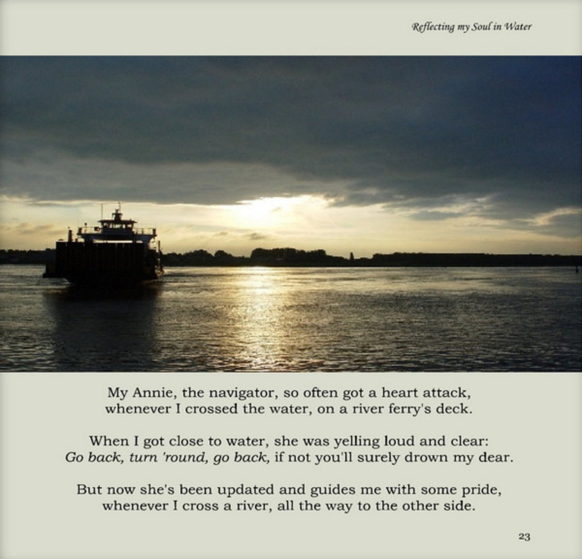 Rhyming Images - page from my book 'Reflecting my soul in water'.