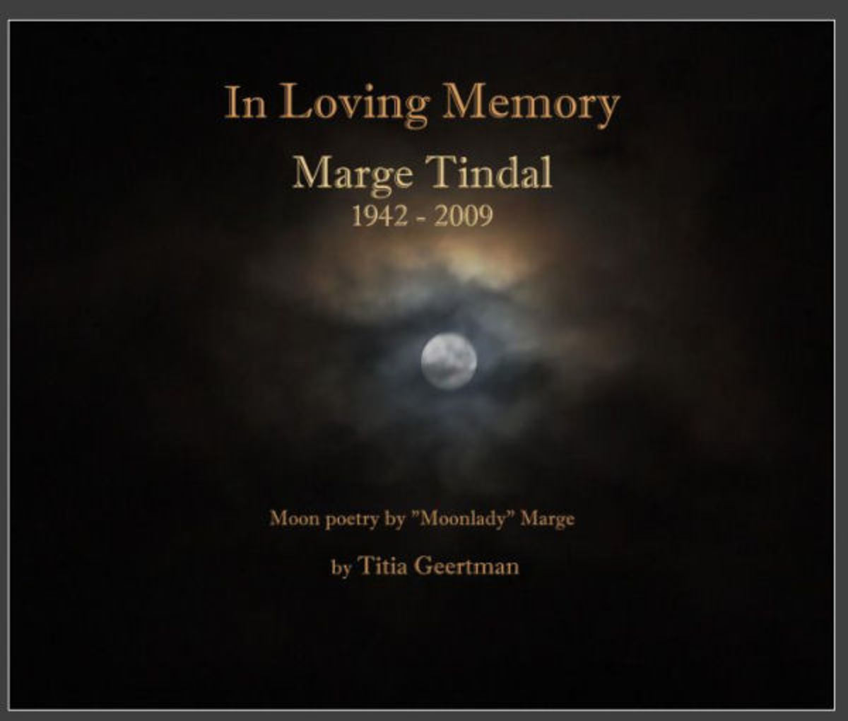 In Loving Memory: Marge Tindal