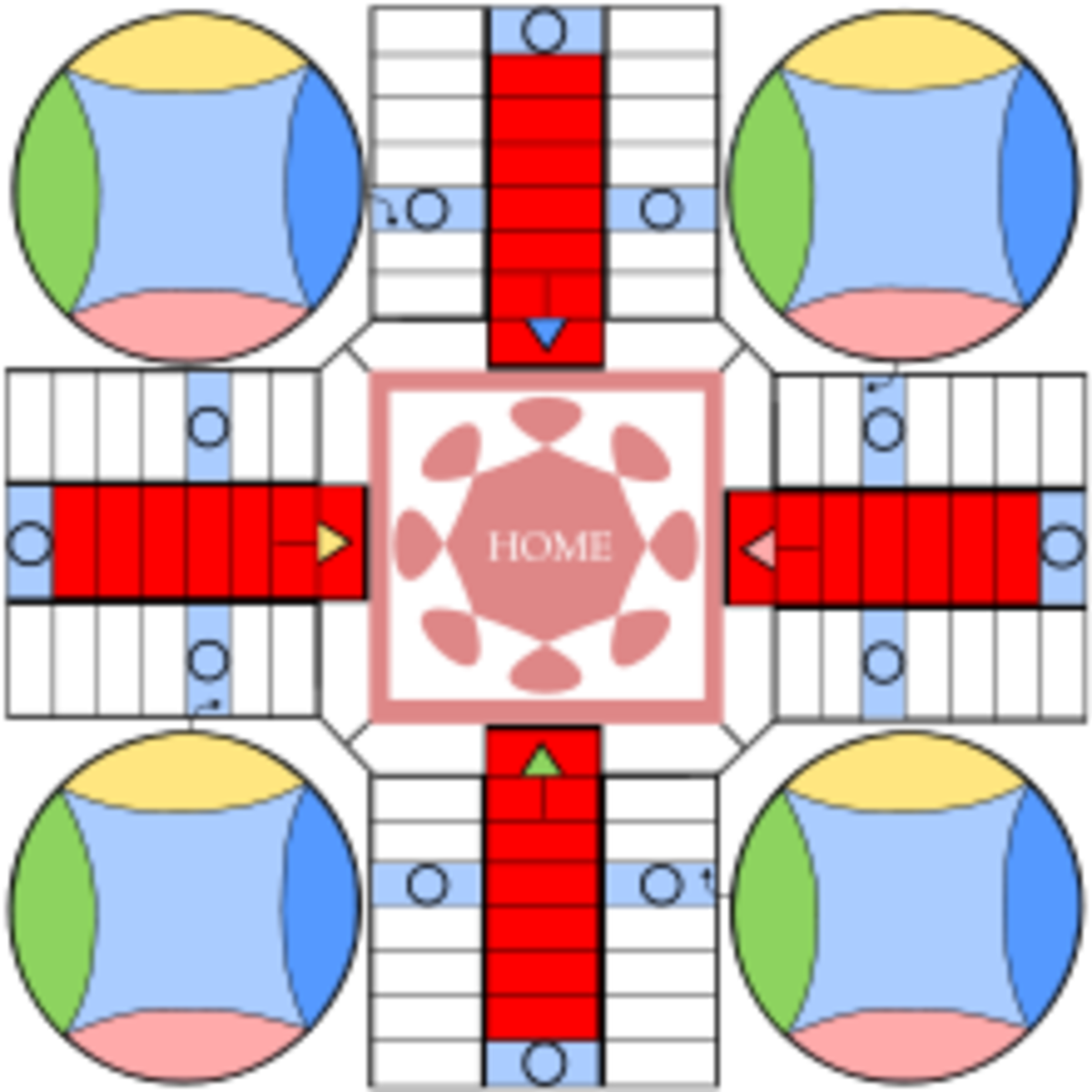 Picture of Parcheesi Board (courtesy of wiki.org)