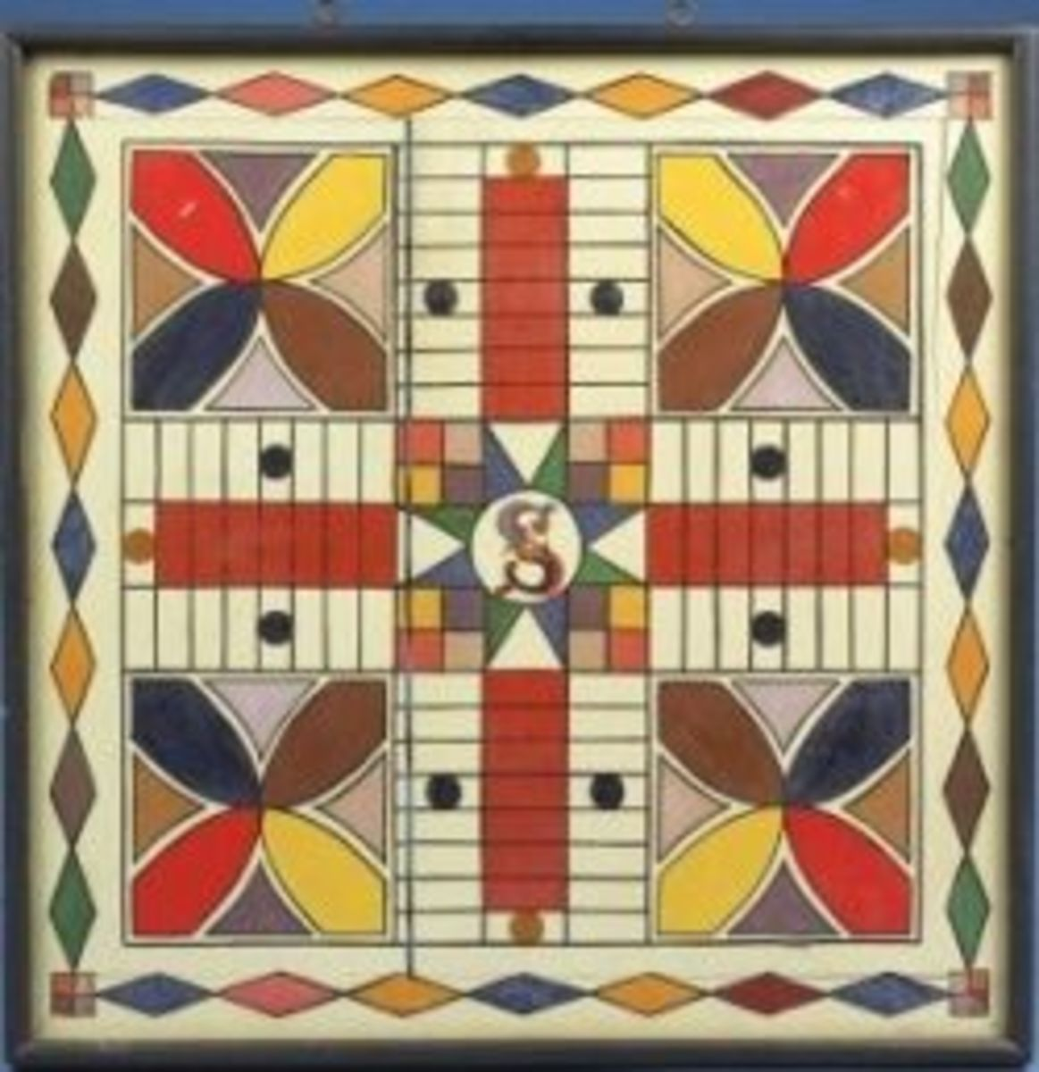 Antique Painted Parcheesi Gameboard (19â³ Square) sold by Northeast Auctions for $11,600.00