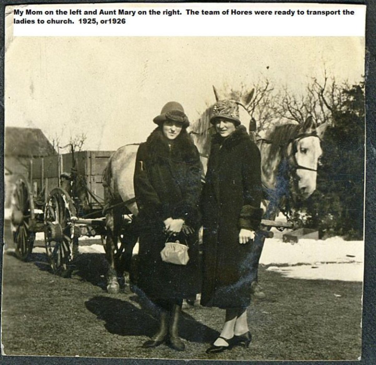 Monte Manka's Mother and Aunt Mary in the Late 1920s
