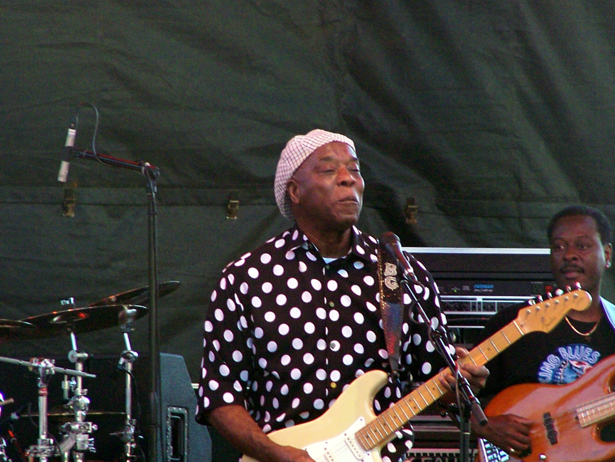 Buddy Guy has a contagious smile, when he wants to use it. Photo by Blake Flannery