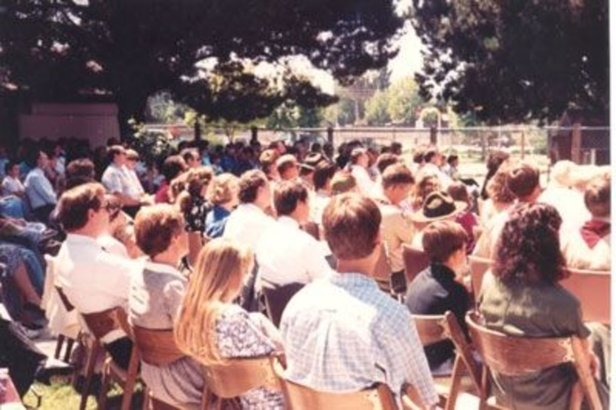 Part of Crowd at Jason's Memorial Service