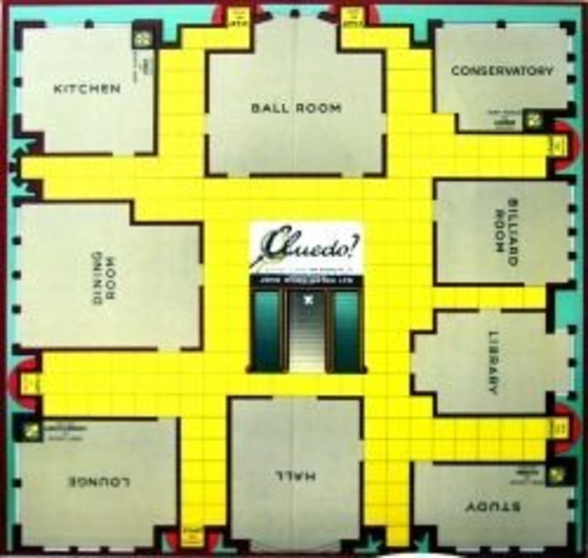 Classic Detective Game - Clue Board Game Layout
