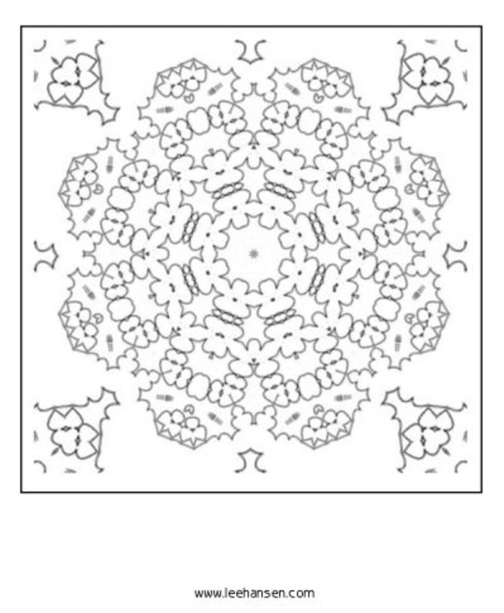 Mandala coloring poster - Wheel of Life